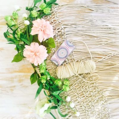 Macrame wedding backdrop, agent 18 boho phone case