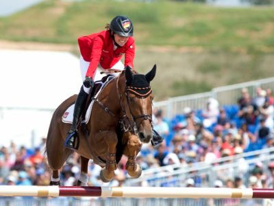 Germany's Simone Blum grabs show jumping gold – and World Equestrian Games history - The Globe ...