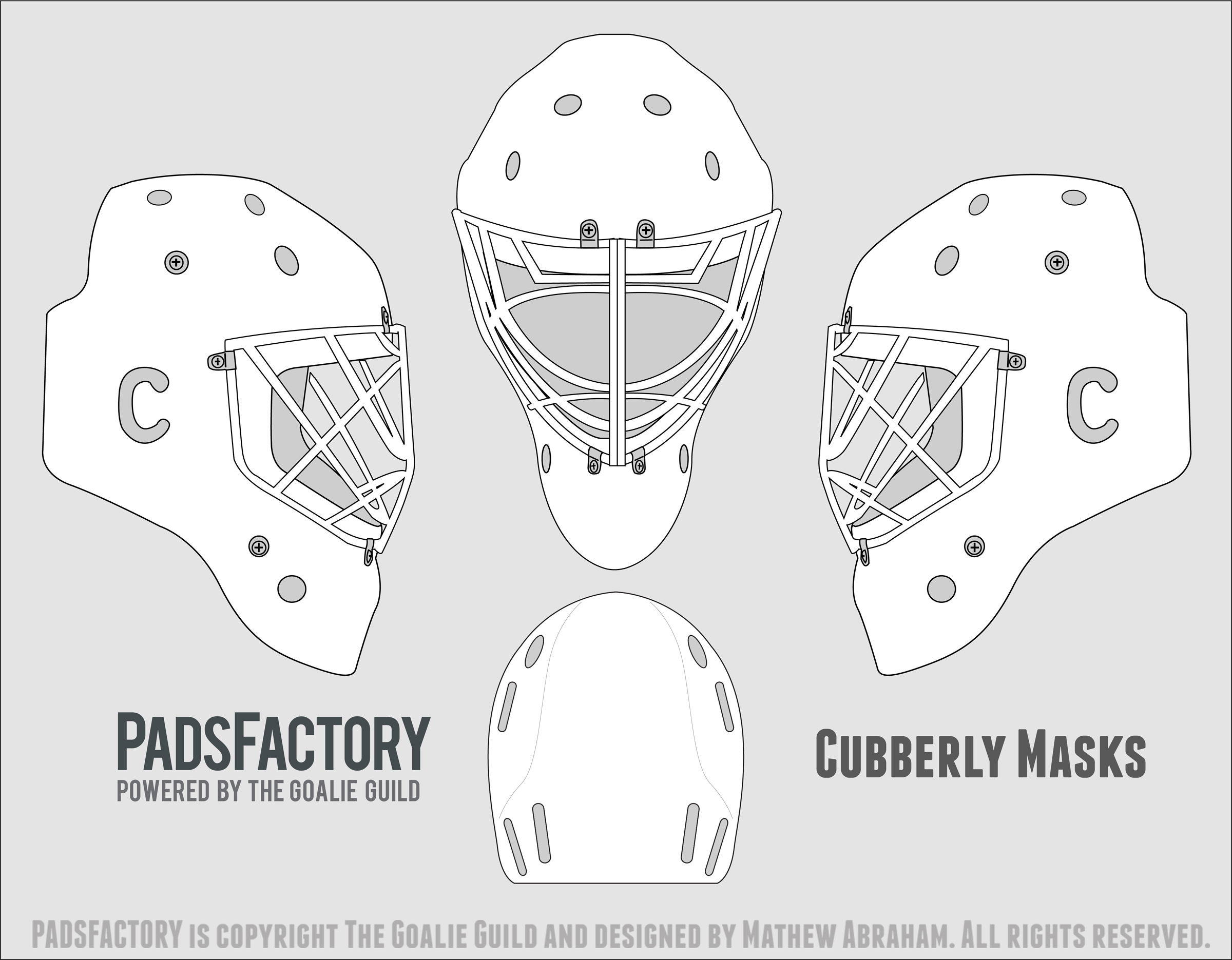 Bauer goalie mask template bauer goalie mask template for Bauer goalie mask template