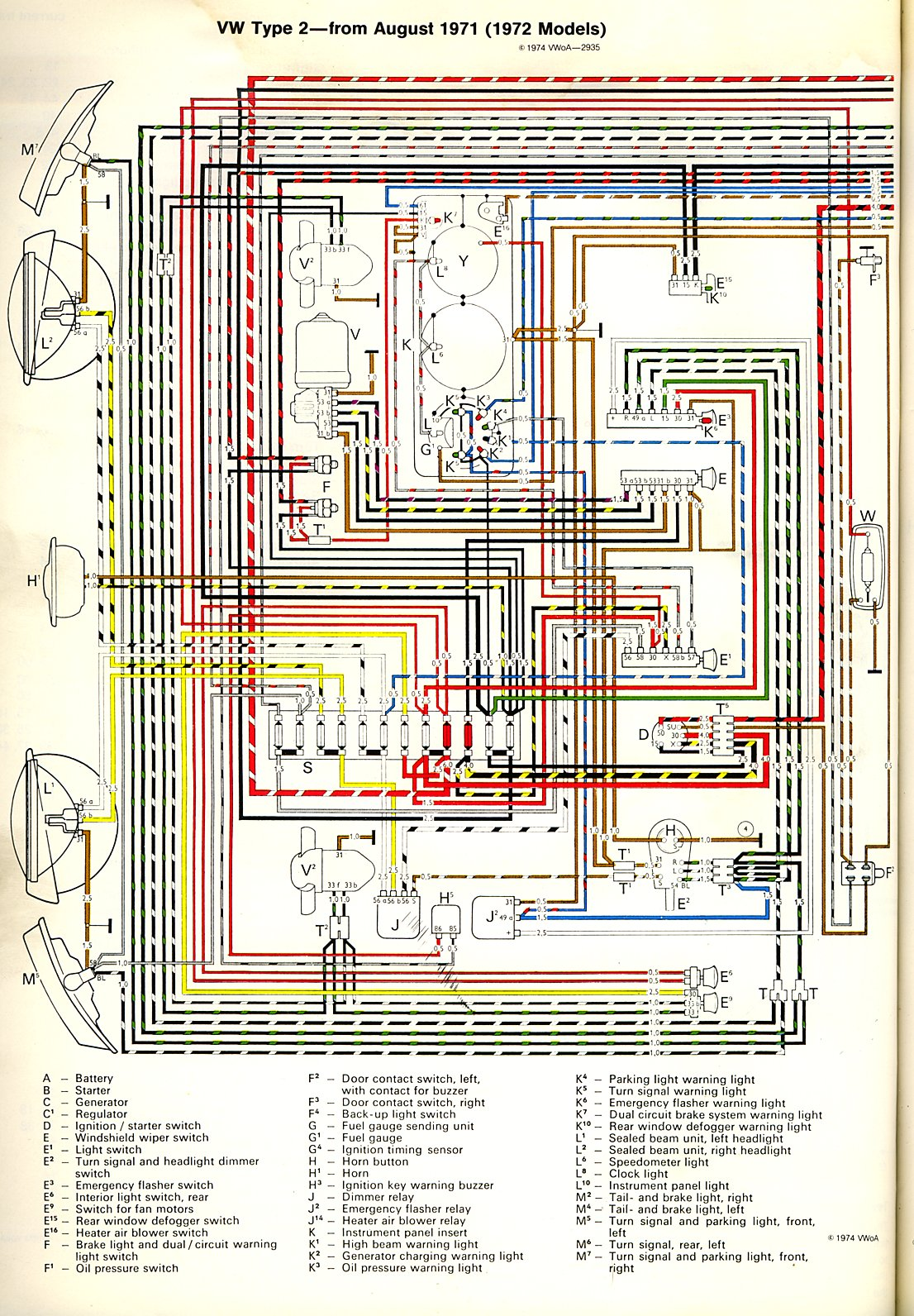 baybus_72a?quality 100 [ 1972 vw beetle turn signal wiring diagram ] 1966 beetle Electrical Wiring Diagrams at n-0.co