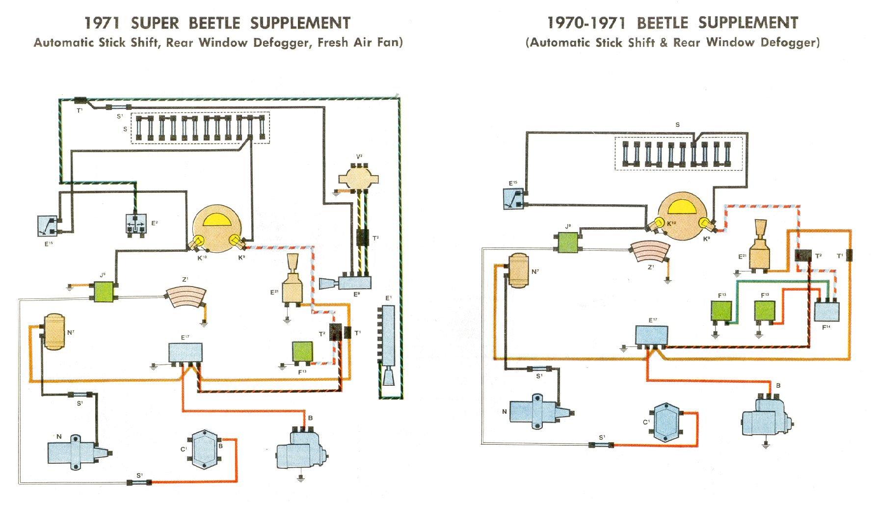 1969 71 Beetle Wiring Diagram Thegoldenbugcom
