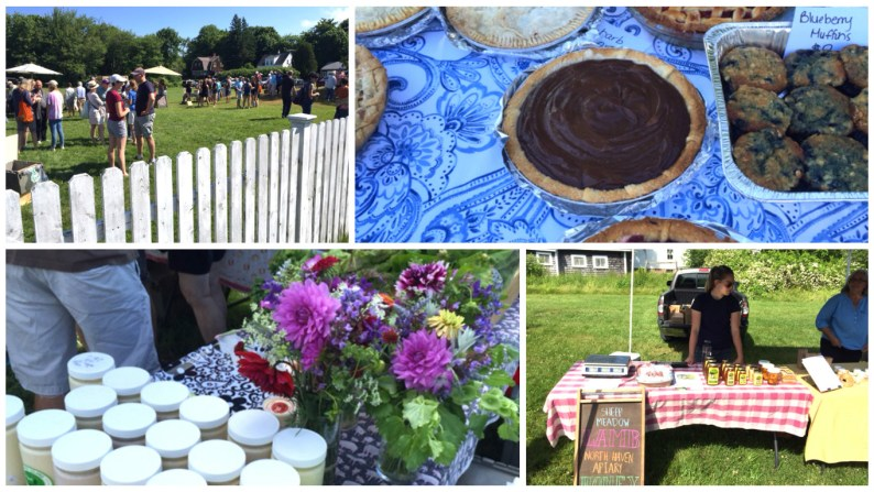 Standout vendors at the market included a selection of pies; Sheep Meadow's wonderful honey and lamb and display of yogurt and flowers from Turner Farm