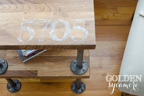 Knock Off Industrial Side Table The Golden Sycamore