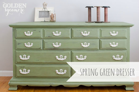 The Golden Sycamore: Spring Green Dresser