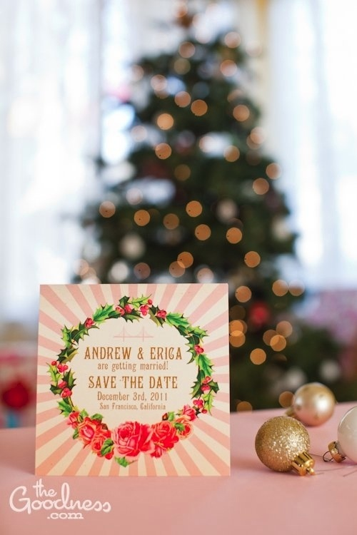 Andrew and Erica\u0027s pink Christmas wedding design The Goodness
