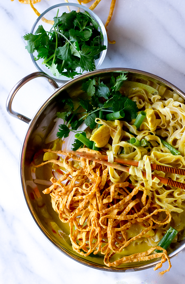 Egg Noodles With Rich Chicken Curry Sauce (Khao Soi) Recipe ...