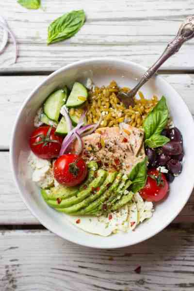 Mediterranean Grain Bowls with Salmon