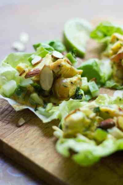 Curried Turkey Salad Lettuce Cups
