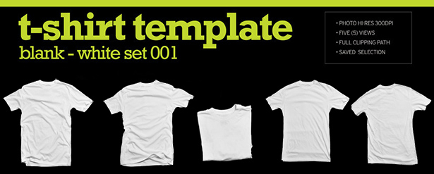 Blank white T-Shirt image template \u2013 The Graphic Mac