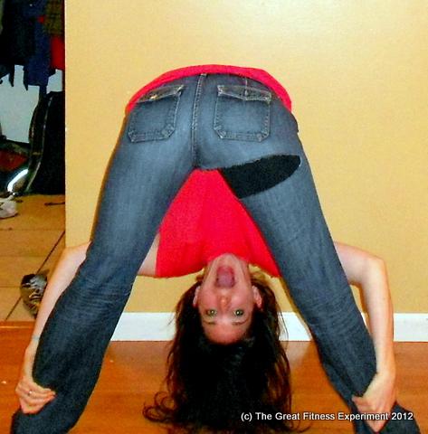 women in thongs bending over