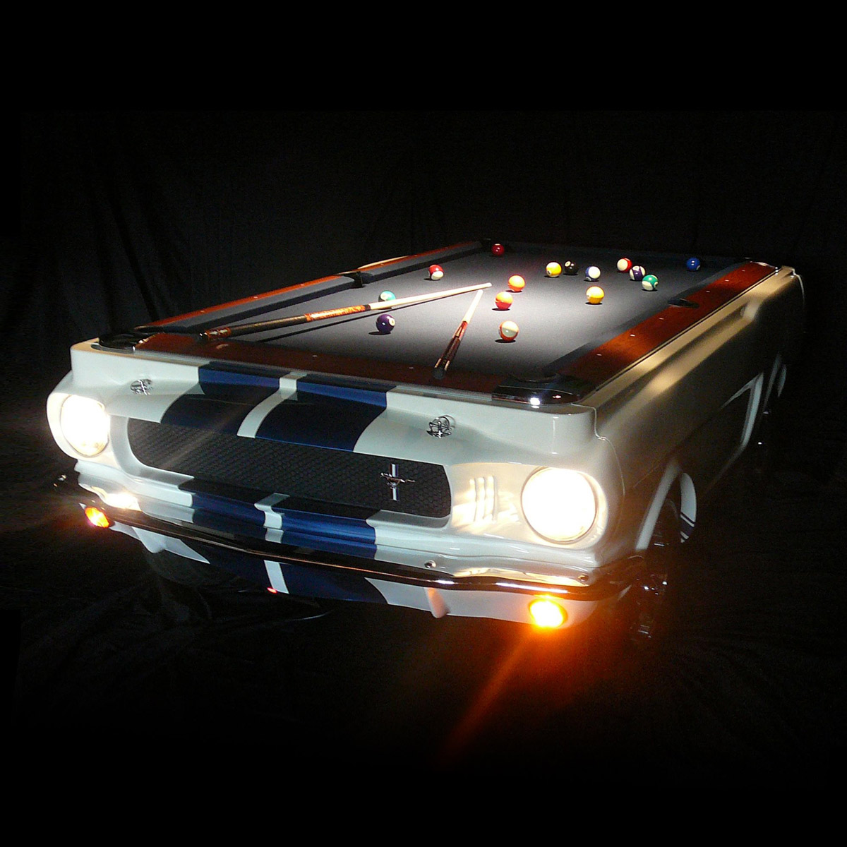 3d Wallpaper Pool Table 1965 Shelby Gt 350 Pool Table
