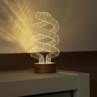 3D Optical Illusion Spiral Bulb LED Lamp - The Green Head