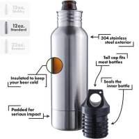 BottleKeeper - Stainless Steel Beer Bottle Holder and ...