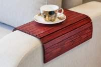 Flexible Wooden Sofa Armrest Tray Table - The Green Head