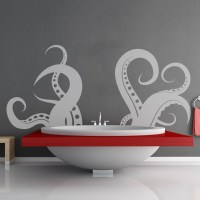 Giant Tentacle Wall Decal - The Green Head