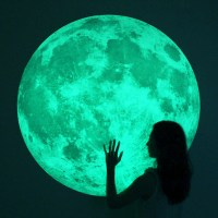 Massive Glow-in-the-Dark Full Moon Wall Sticker - The ...