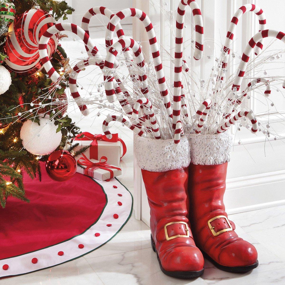 Royal Decor 3d Wallpaper Oversized Santa Boots