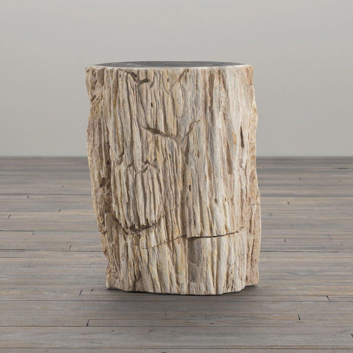 petrified wood stump table
