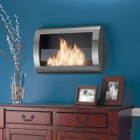 Clean-Burning Wall-Mounted Fireplace - The Green Head