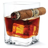 Corkcicle Cigar Glass - Whiskey Glass with Cigar Holder ...