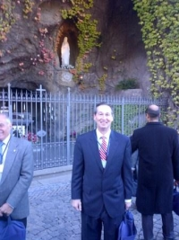 The Vatican Gardens grotto reminded me of campus.