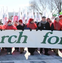 Benedictine College leads the March for Life.