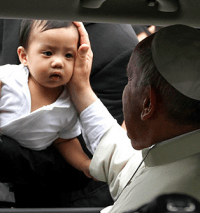Pope Francis visits the Philippines.