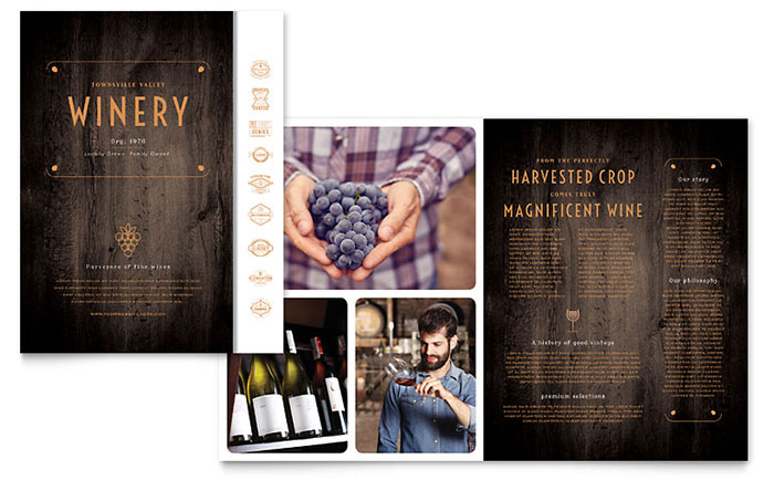 Free Brochure Templates - The Grid System - free brochure design templates word