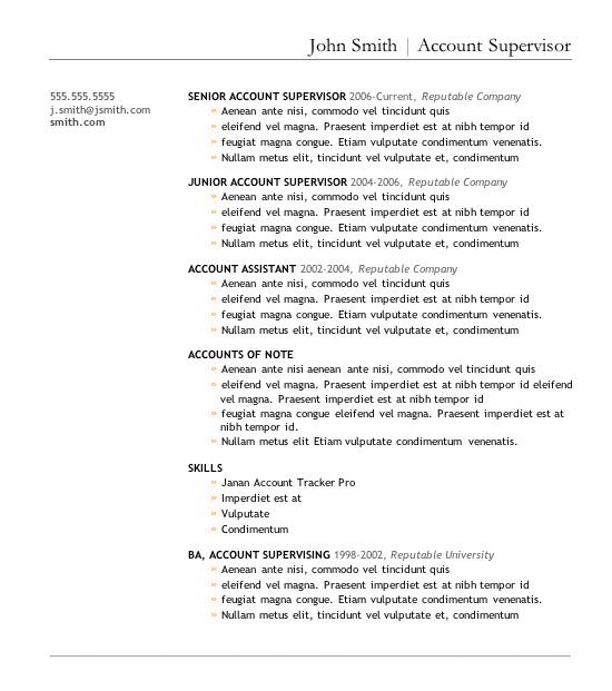 upfront resume template