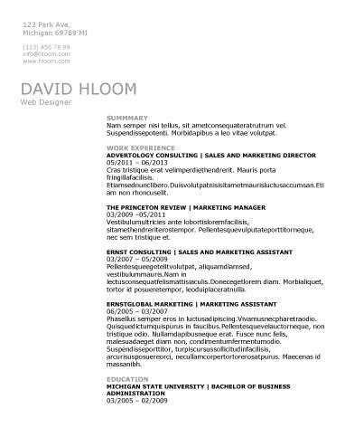 Free Resume Templates For Word - The Grid System - technical resume template
