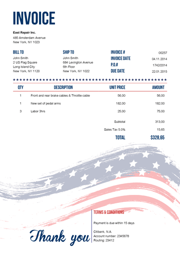 free download invoice template pdf
