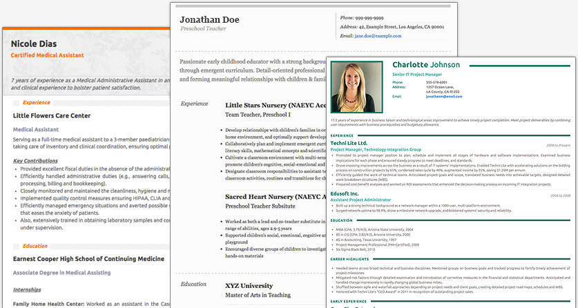 make cv online template