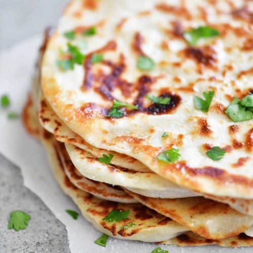 Two Ingredient Dough Naan Flatbread - The Gunny Sack