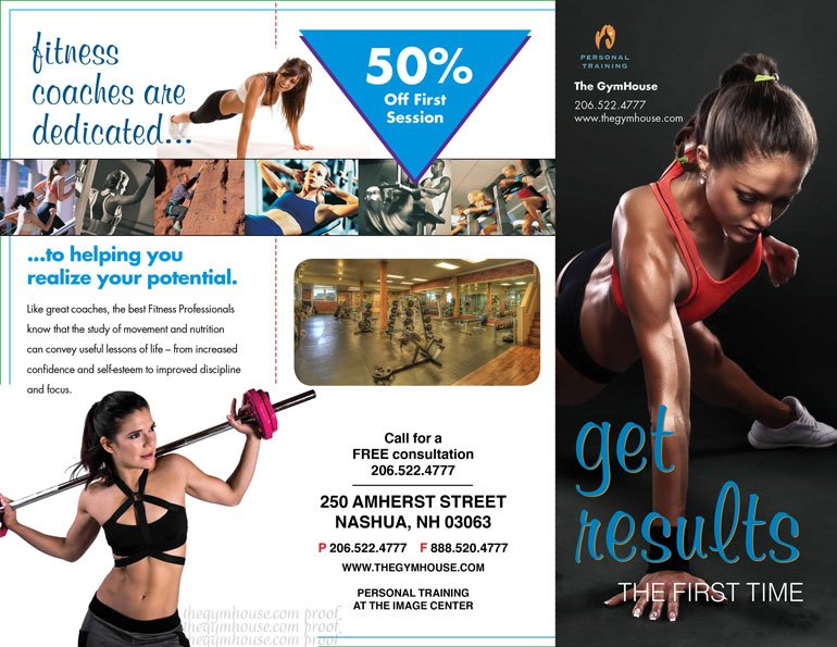 New gym trainer brochure added A Printer for Gyms and Personal