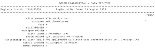 Here Is Lorde\u0027s Birth Certificate - The Hairpin - birth certificate