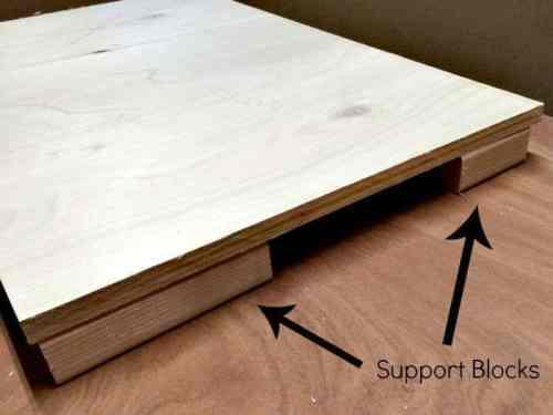 elevate board on blocks