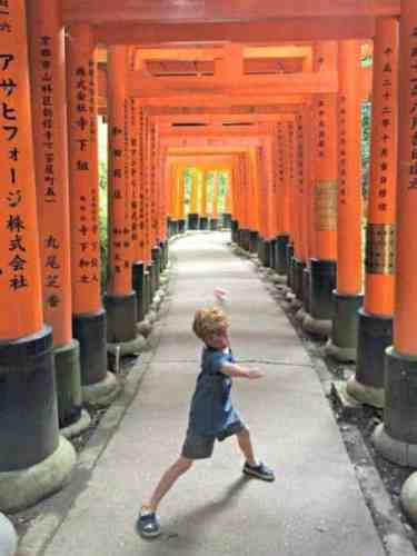 It's not hard to imagine being a ninja in this amazing torii gate tunnel in Kyoto
