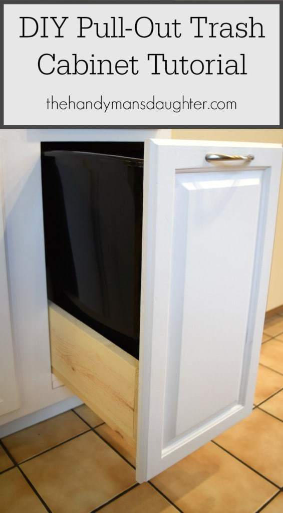 DIY Pull-Out Trash Cabinet Tutorial