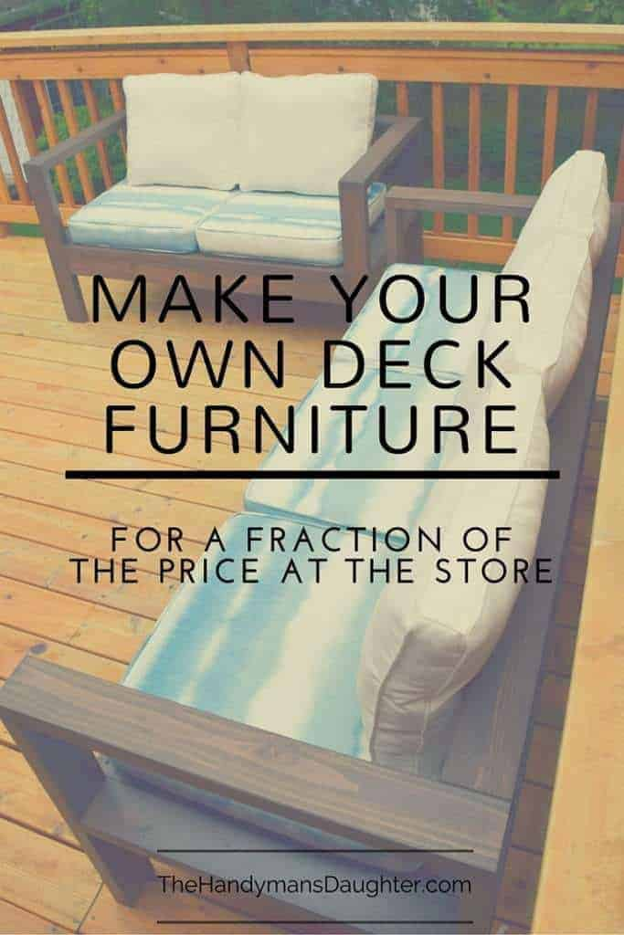 Build Your Own Outdoor Sofa And Loveseat The Handyman39s