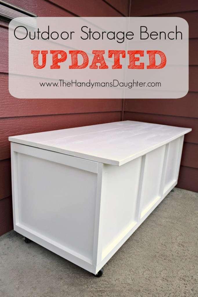 DIY Outdoor Storage Bench - Take Two