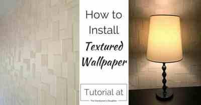 Textured Wallpaper Accent Wall - {Master Bedroom Update} - The Handyman's Daughter