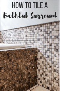 How to Tile a Bathtub Surround - The Handyman's Daughter
