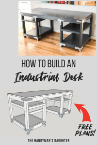 DIY Industrial Computer Desk Plans and Tutorial - The ...