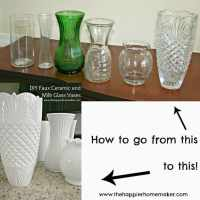 DIY White Faux Ceramic and Milk Glass Vases