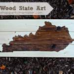 DIY Wood State Art