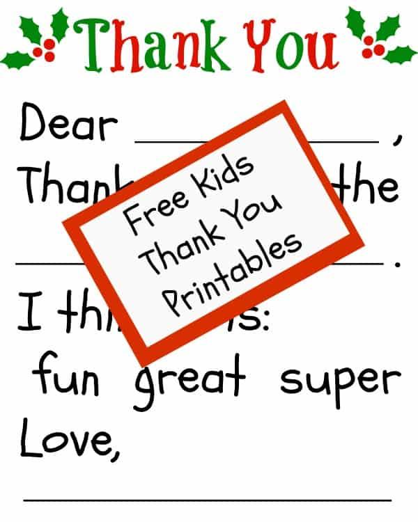 Free Children\u0027s Thank You Printable The Happier Homemaker