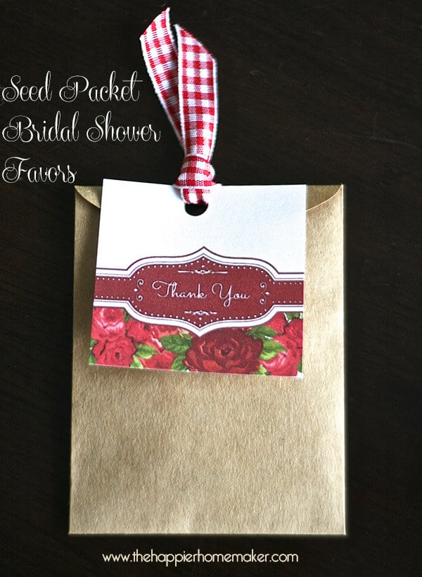 seed packet shower favors