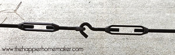 turnbuckle close up dining table