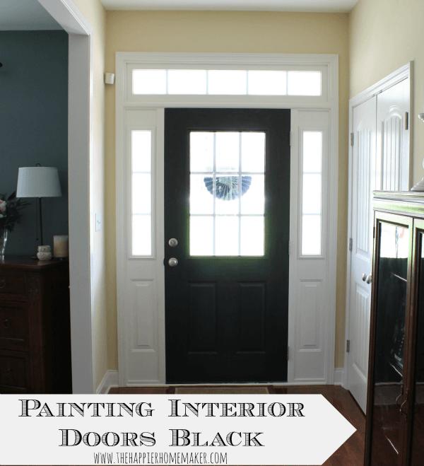 Painting Interior Doors Black