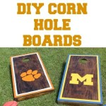 making your own corn hole boards diy thumbnail